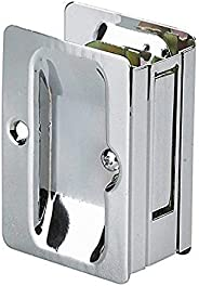 Onward 1700CPSBC Pocket Door Pull with Passage Lock - Rectangular, Chrome