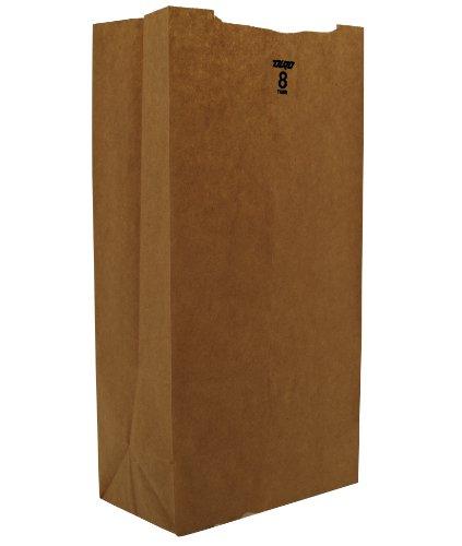 Duro ID# 18408 8# SOS Bag 35# 100% Recycled Natural Kraft 500pk 6 x 4 x 12.437