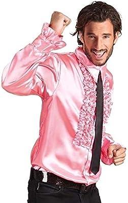 Generique - Camisa Disco Rosa Brillante Hombre: Amazon.es: Juguetes y juegos