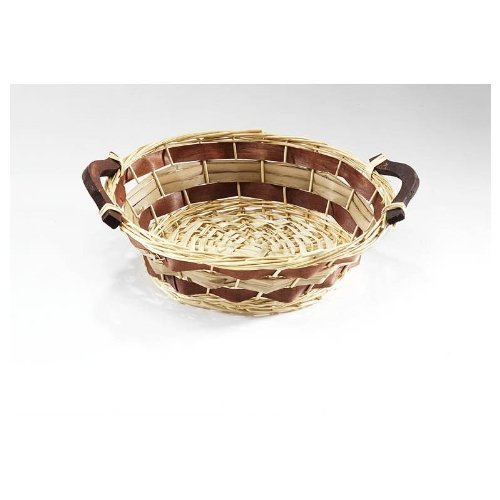 Pasture bowl round with wood handles