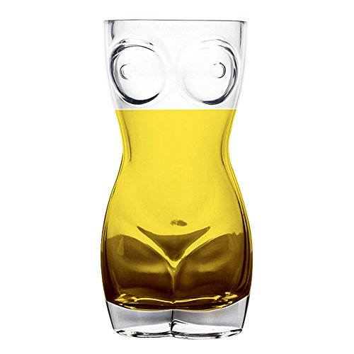 - Ireav Funny Wine Glass - 700ML Transparent Beer Mug Female Body Cup Bar Bachelor Party Drinking Game