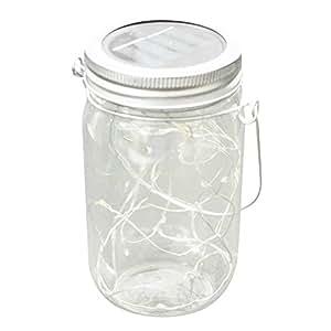 Amazon.com: Fan-Ling - 1 luz solar para tarro de cristal ...