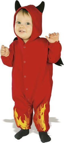 Rubie's Costume EZ-On Romper Costume, Lil' Devil, 6-12 Months