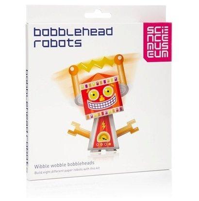 British Science Museum Bobble Head Robots Papercraft Model