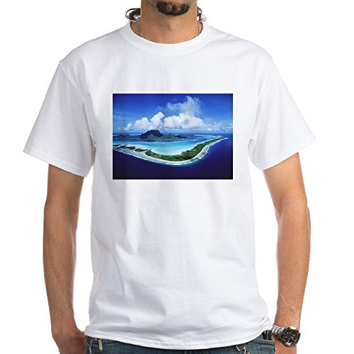 CafePress LRG Framed Print T-Shirt - 100% Cotton T-Shirt, (Tahiti Framed)