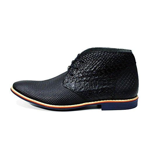 Modello Rieti - Handmade Colorful italiennes en cuir Shoes Chaussures Casual Formal Unique Vintage premium Bottes lacŽes Hommes Hauts