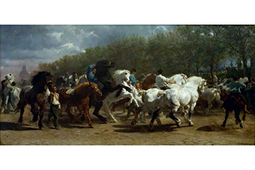 Rosa Bonheur - The Horse Fair, 1855 - Fine Art Custom Giclee Print - 24 x 36 inches