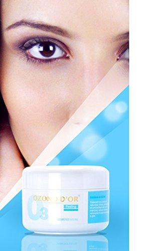 OZONO DOR. Peeling facial de Ozono. Exfoliante NATURAL, sin productos químicos, para eliminar células muertas y manchas de la cara.