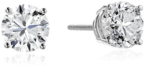 IGI Certified 18k White Gold, Round-Cut, Diamond 4-Prong ...