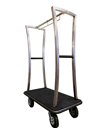 Monarch Carts Stainless Steel Hotel Luggage Cart MCL210S by MonarchCarts