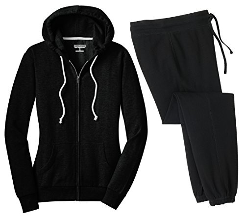 Kamal Ohava Junior's 2-piece Set Core Fleece Hoodie + Pant, 4XL Plus, Black