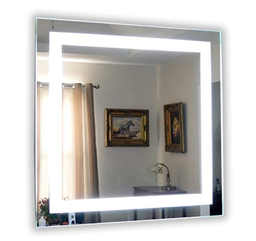 Wall Mounted Lighted Vanity Mirror LED MAM84848 Commercial Grade 48