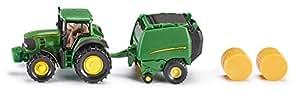 Siku  John Deere Tractor with Round Baler,Vehicle