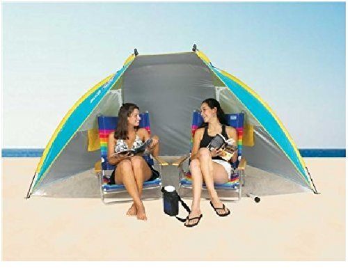 Beach Hut Cabana Tent Shade SPF 50 Portable Carry Bag Sun Protection Shelter