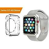 Case for Apple Watch 42mm, Series 3, 2, Slim Bumper, Edge Scratch Protective, TPU, Clear Transparent