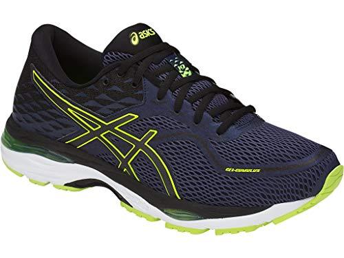 (ASICS Men's Gel-Cumulus 19 Running Shoes, 10M, Indigo Blue/Black/Safety Yellow)