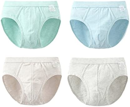 Boys Breathable Cotton Underpants 4 PCS Kids Fashion Simple Briefs Shorts
