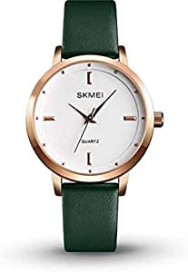 SKMEI Fashion 1457 Casual Water Resistant Watch for Women 3Bar Leather