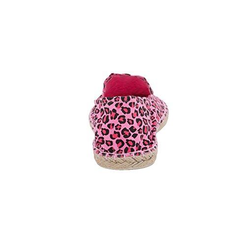 Fantasia Rosa Espadrillas Donna Basse Leopardata Japanwelt Hat8w