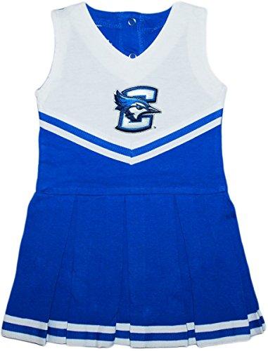 Creighton University Blue Jays Baby and Toddler Cheerleader Bodysuit Dress