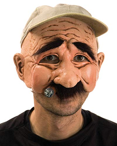 Funny Halloween Half Masks (Zagone Stan the Man Mask, Older Male with Cigar &)
