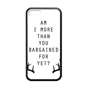 CTSLR Laser Technology Fall Out Boy TPU Case Cover Skin for Cheap Apple iPhone 5C-1 Pack- Black - 1