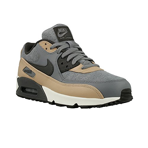 (NIKE Men's Air Max 90 Premium, Cool Grey/DEEP Pewter-Mushroom-Wolf, 9.5 M US)