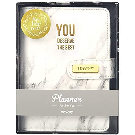BKbjben Marble Series PU Leather Cover Binder Notebook Diary ...