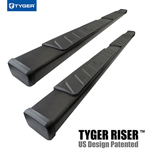 Tyger Auto TG-RS2F40118 RISER For 2015-2018 Ford F150/2017-2018 F250/F350 Super Duty SuperCrew Cab 4inch Black Side Step Nerf Bars Running Boards