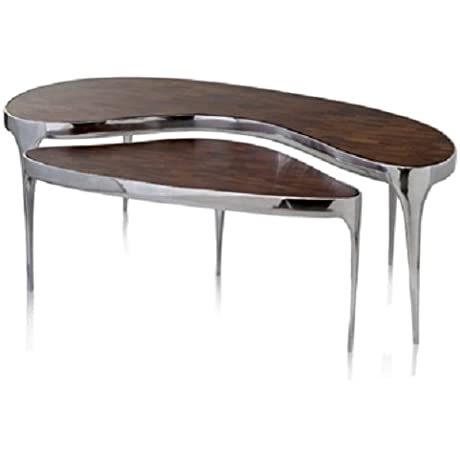 Modern Day Accents OM Rinon Kidney Coffee Table Set Of 2