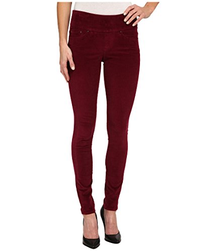 Jag Jeans Women's Nora Pull-On Skinny 18 Wale Corduroy, Ruby Port, 2 X 31