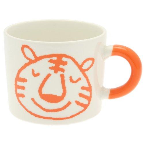 Kotobuki Zodiac Series Crayon Mug, Year of The Tiger, Orange