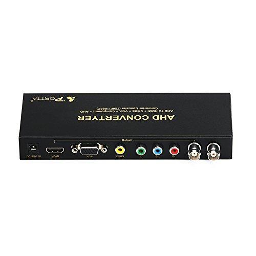 // 576i 480i Portta AHD Converter Adattatore HDMI // CVBS Component NTSC per output CVBS fino a 500m PAL AHD Upscaler 720P // 1080P per display HDMI // VGA // YPbPr abilitato VGA
