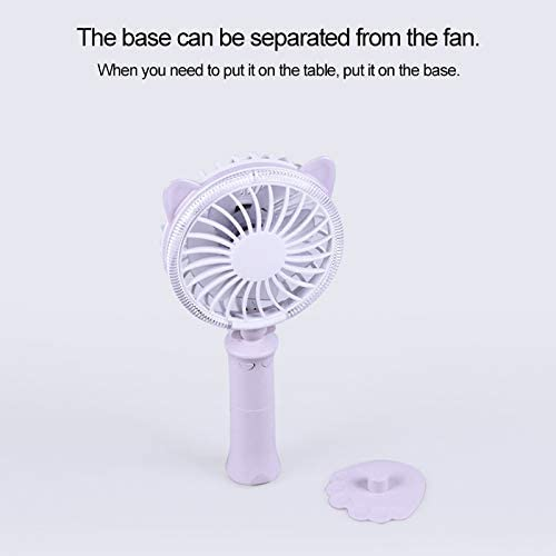 CellphoneMall USB Desk Personal Fan Sunshine Twisted Cat Night USB Fan with 180 Degree Rotation /& Wind 2 Speeds Pink Color : Blue