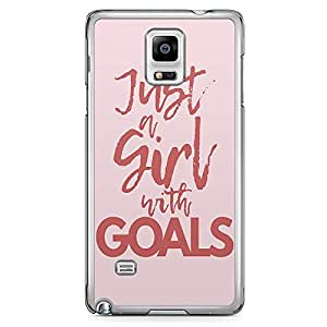 Samsung Note 4 Transparent Edge Phone Case Girl Goals Phone Case Slay Girl 2D Note 4 Cover with Transparent Frame