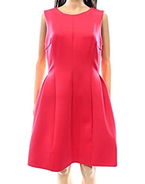 Calvin Klein Watermelon Womens A-Line Scuba Sheath Dress