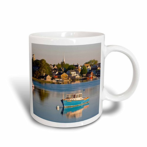 Lobster Fishing Boat - 3dRose Lobster Fishing Boat, Piscataqua River, Ceramic Mug, 11-Oz