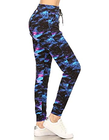 ff774526e4c7 Leggings Depot Premium Jogger Women's Popular Printed High Waist Track Yoga  Full Pants (S-