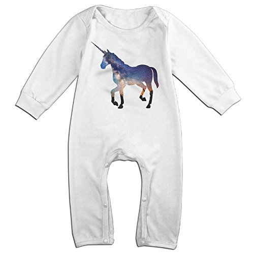 KIDDOS Baby Infant Romper Unicorn Long Sleeve Jumpsuit Costume,White 24 Months