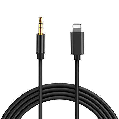 Aux Cable for iPhone 3.5mm Stereo Jack Speakers Tablets MP3 Players Aux Cord Compatible with iPhone 6/7/8/X/Xs/Xr 3.5mm Male Audio Adapter for Car Home Stereo & Headphone Support iOS 12-(3.3ft,Black)