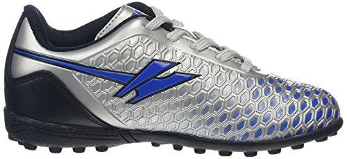 Gola Ion Vx, Botas de Fútbol Niños Plateado (Silver/Blue)