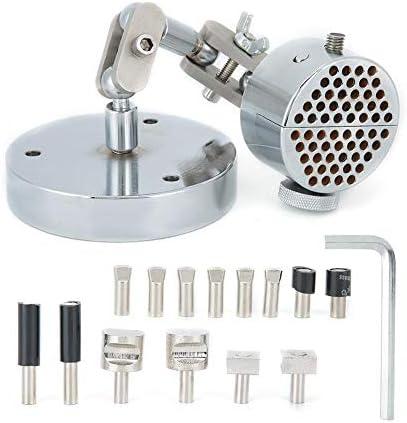 テーブル/ベンチバイス、金属製ハンドルバイスワークホルダー360°回転ユニバーサルリングクランプ刻印設定ツールジュエリーツール
