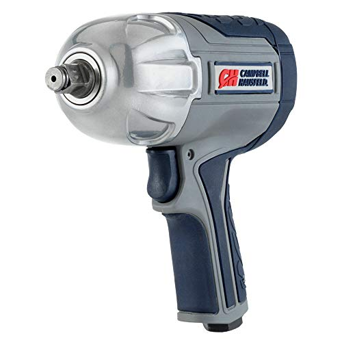 Campbell Hausfeld XT002000 Air Impact Wrench Twin Hammer Impact Driver with Composite Body and Comfort Grip, 1/2'