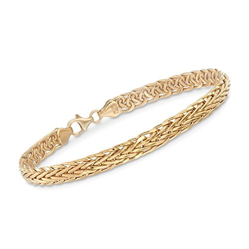Ross-Simons Certified 18kt Yellow Gold Wheat-Link Bracelet