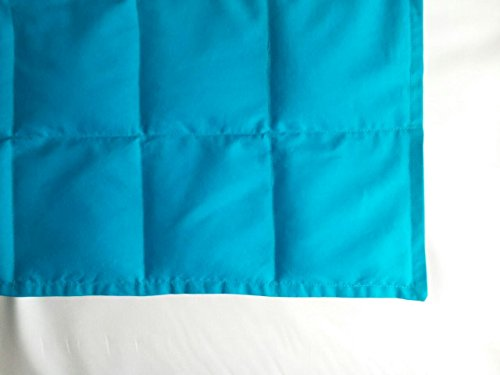 """Peace Weighted Products - Medium Weighted Blanket Turquoise Cotton 40"""" x 54"""" (09 Pounds) (Body Old 09)"""