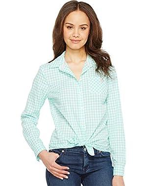 Women's Long Sleeve Gingham Woven Shirt