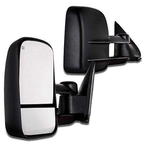 SCITOO Towing Mirrors, fit Chevy GMC Exterior Accessories Mirrors fit C1500 C2500 C3500 K1500 K2500 K3500 1988-1998 Convex Glass Manual Controlling Telescoping Features