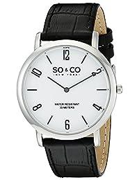 SO & CO New York Men's 5043.1 Madison Analog Display Japanese Quartz Black Watch