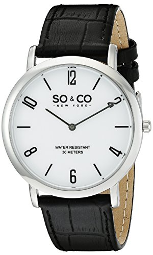 SO&CO New York Men's 5043.1 Madison Quar - Leather Strap Quartz Movement Shopping Results