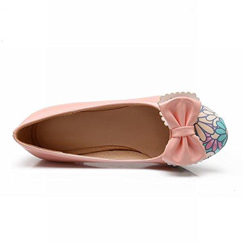 Charm Foot Sweet Cute Bows Womens Mid Heel Pumps Shoes Pink MgpAC0U